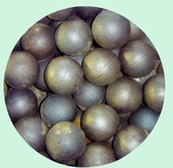 长期供应高铬铸球、铸锻、研磨体、耐磨钢球